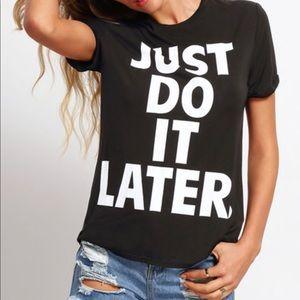 Printed Graphic T-Shirt Black/White
